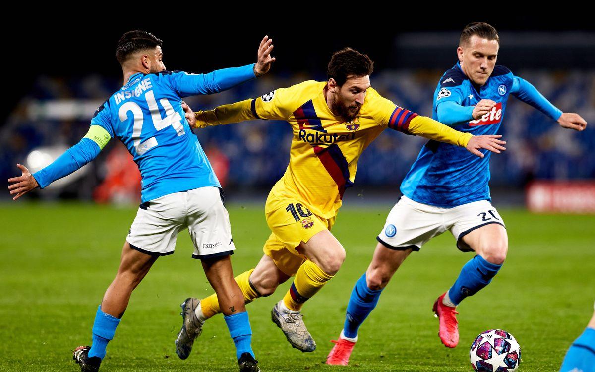 نابولي ضد برشلونة في دوري الأبطال