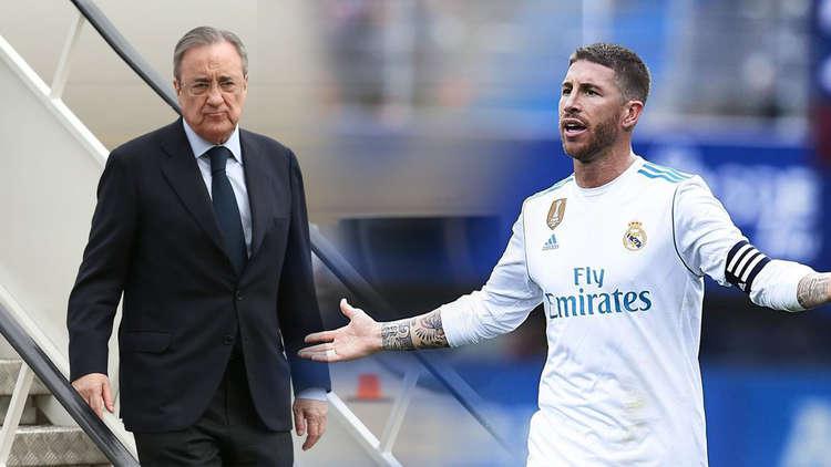 """بيريز يخون راموس ويقحم ريال مدريد في حرب مع برشلونة على """"صفقة الإنقاذ"""""""