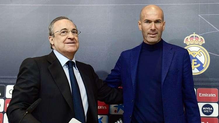 بيريز يفاجئ زيدان بقرار مثير بعد رحيله عن ريال مدريد