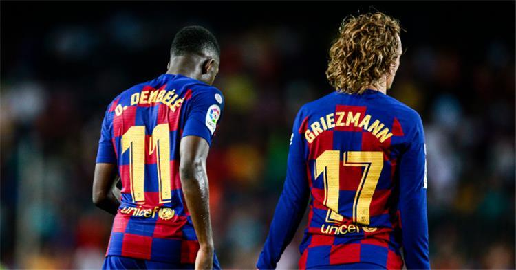جريزمان أو ديمبيلي.. برشلونة يضحي بنجمه لحسم الصفقة السوبر